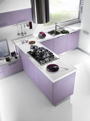 Bancone o penisola per l angolo cottura del living for Cucine per angolo cottura