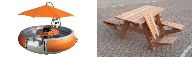 Tavolo galleggiante per picnic e tavolo classico