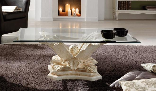 Tavolino Tropea da salotto, in ceramica decorata con piano ovale o ...