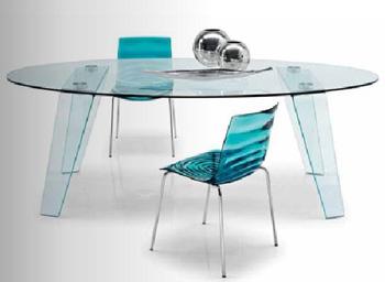 Tavolo ovale cristallo tavolo ovale cristallo tavolo da - Tavolo in cristallo ovale ...