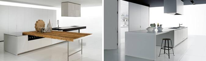 bancone o penisola per l'angolo cottura del living - Tavolo Penisola Cucina