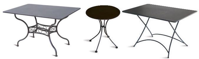 Come scegliere un tavolo in metallo o ferro battuto