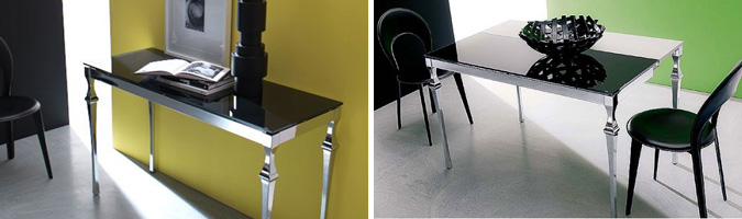 Tavolo allungabile per l 39 arredamento della cucina o del for Tavoli soggiorno allungabili design